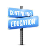 Continuing education road sign illustration design — Stock Photo