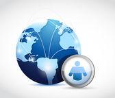 Globe social network concept illustration design — Stock Photo