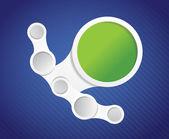 Información gráfica diagrama círculos ilustración — Foto de Stock