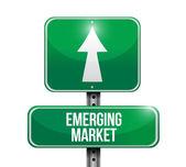 формирующейся рыночной дороги знак иллюстрации дизайн — Стоковое фото
