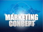 Marketing concept world map background — Stock Photo