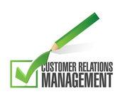 Spunta gestione del rapporto cliente — Foto Stock
