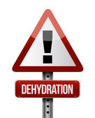 Dehydration road sign illustration design — Stock Photo