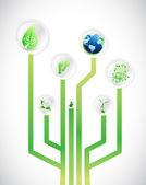 Eco friendly diagram illustration design — Stock Photo