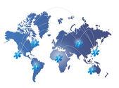 Diseño ilustración mundo mapa red médica — Foto de Stock