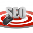 Stock Photo: Seo mouse target illustration design