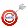 Marketing target and dart illustration design — Stock Photo