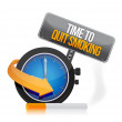 Time to quit smoking watch illustration design — Stock Photo #33058917