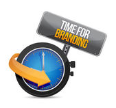Time for branding watch illustration design — Stock Photo