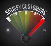 Satisfy customers level measure meter — Stock Photo