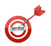 Best offer target and dart illustration design — Stock Photo
