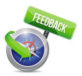 Compass guide to feedback. illustration design — Stock Photo