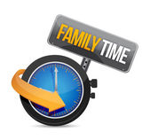 Family time watch illustration design — Stock Photo