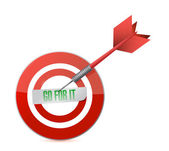 Go for it target and dart illustration design — Stock Photo