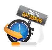 Tempo di smettere di progettazione illustrazione di fumare guarda — Foto Stock