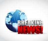 Global breaking news illustration design — Stock Photo