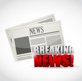 Breaking news newspaper illustration — Stock Photo