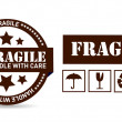 Fragile package illustration design — Stock Photo
