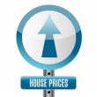 Stock Photo: House prices road sign illustration design