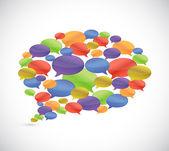 Conjunto de burbujas de mensaje. diseño de ilustración — Foto de Stock
