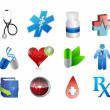 Medical icons and tools illustration — Stock Photo #33358311