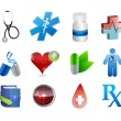 Medical icons and tools illustration — Stock Photo