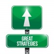 Great strategies road sign illustration design — Stock Photo #33358571