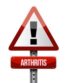 Arthritis road sign illustration design — Stok fotoğraf