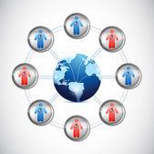 International global medical doctors network — Stock Photo
