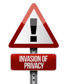 Invasion of privacy road sign illustration design — Stock Photo