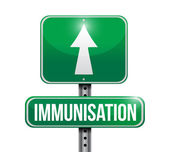 Immunization road sign illustration design — Stock Photo
