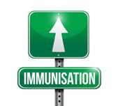 Immunization road sign illustration design — Stock Photo