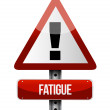 Fatigue road sign illustrations design — Stock Photo