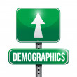 Stock Photo: Demographics road sign illustrations design