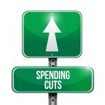 Spending cuts road sign illustrations design — Stock Photo #33460375