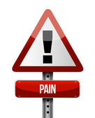 Pain road sign illustrations design — Stock Photo