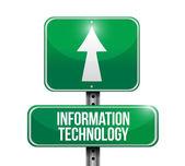 Ilustraciones de información tecnología road sign — Foto de Stock