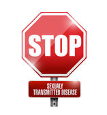 Stop sexualy transmitted diseases road sign — Stock Photo