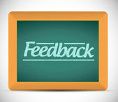 Feedback message written on a chalkboard — Stock Photo