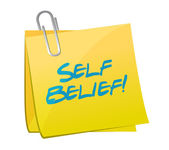 Self belief post illustration design — Stock Photo