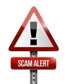 Warning scam alert road sign illustration design — Stock Photo