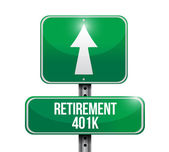 Retirement 401k road sign illustration design — Stock Photo