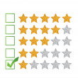 Poor review rating illustration design — Stock Photo