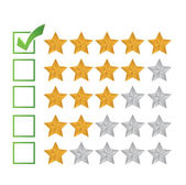 Excellent review rating illustration design — Stock Photo