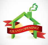 Home or business grand opening banner illustration — Stock Photo