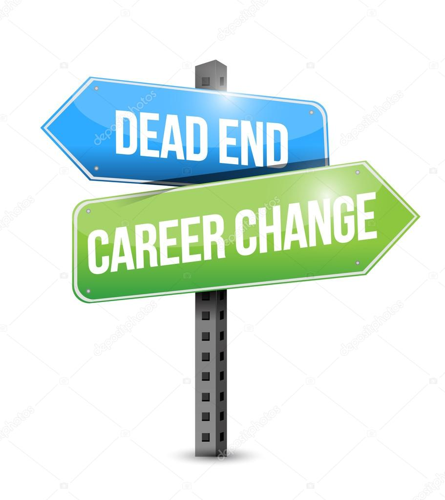 dead end career change road sign illustration stock photo dead end career change road sign illustration design over a white background photo by alexmillos