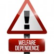 Welfare dependency road sign illustration design — Stockfoto #33983667