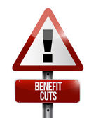 Benefit cuts warning road sign illustration — Stock Photo