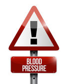 Blood pressure road sign illustration design — 图库照片