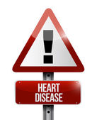Heart disease road sign illustration design — Stock Photo